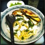 Spaghetti gegrilde groenten