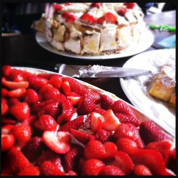 Strawberry cake