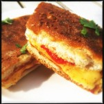 Toast Thai style; melted cheese, tomato, curry paste & fresh coriander