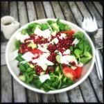 Healthy pomegranate salad from Bridget