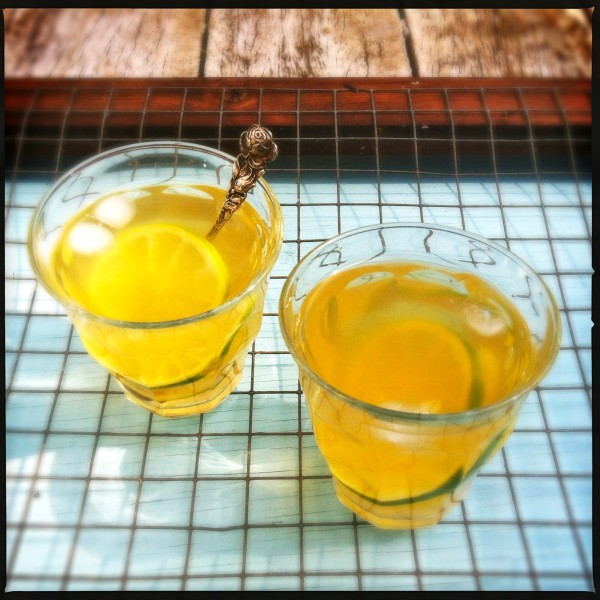 Refreshing fennel ice tea