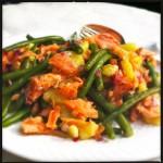 Smoked salmon trout salad