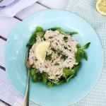 Gestoomde makreelsalade