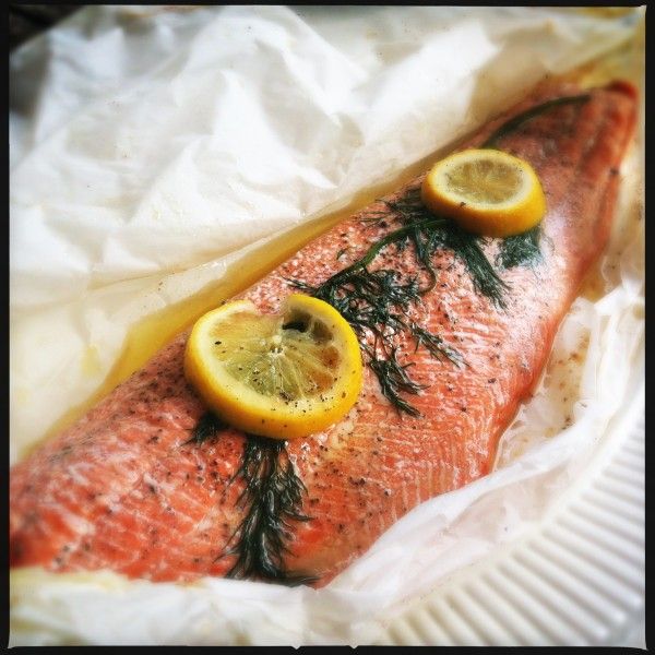 wild salmon en papillote made by ellen