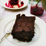 chocolade brownie met frambozen & pecannoten made by ellen