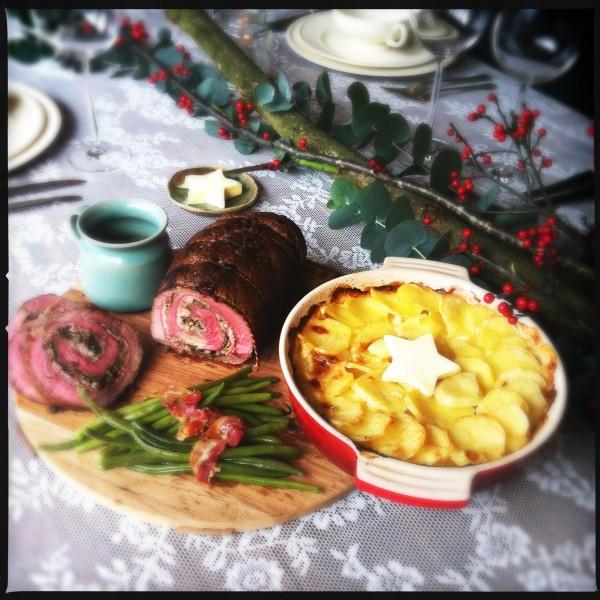 Gevulde rollade met rauwe ham, kastanjechampignons & citroenrasp made by ellen