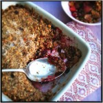 Cranberry - appel crumble made by ellen