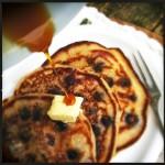 Bosbessen pancakes