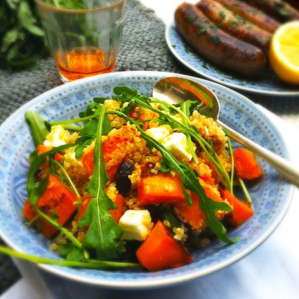 Made by Ellen Quinoa salade met pompoen en feta