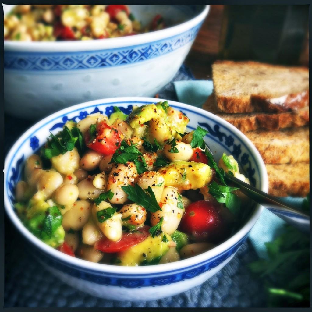 Made by Ellen witte bonen salade