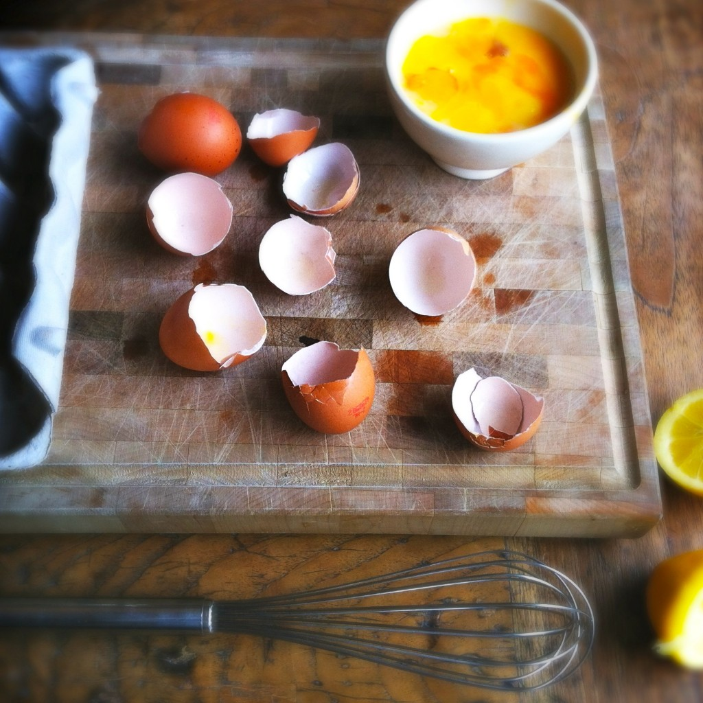 Made by Ellen splitsen van de eieren