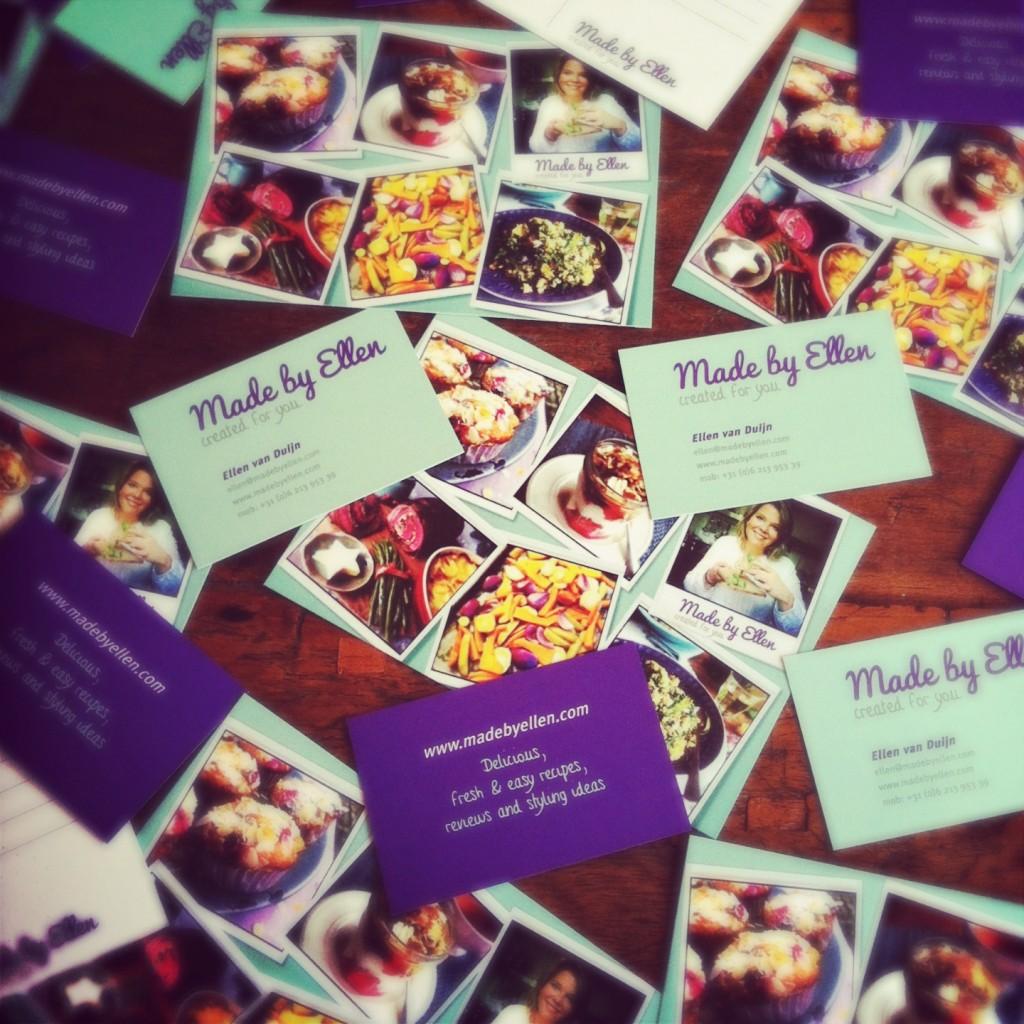 Happy! Mijn visitekaartjes & postcards binnengekomen.