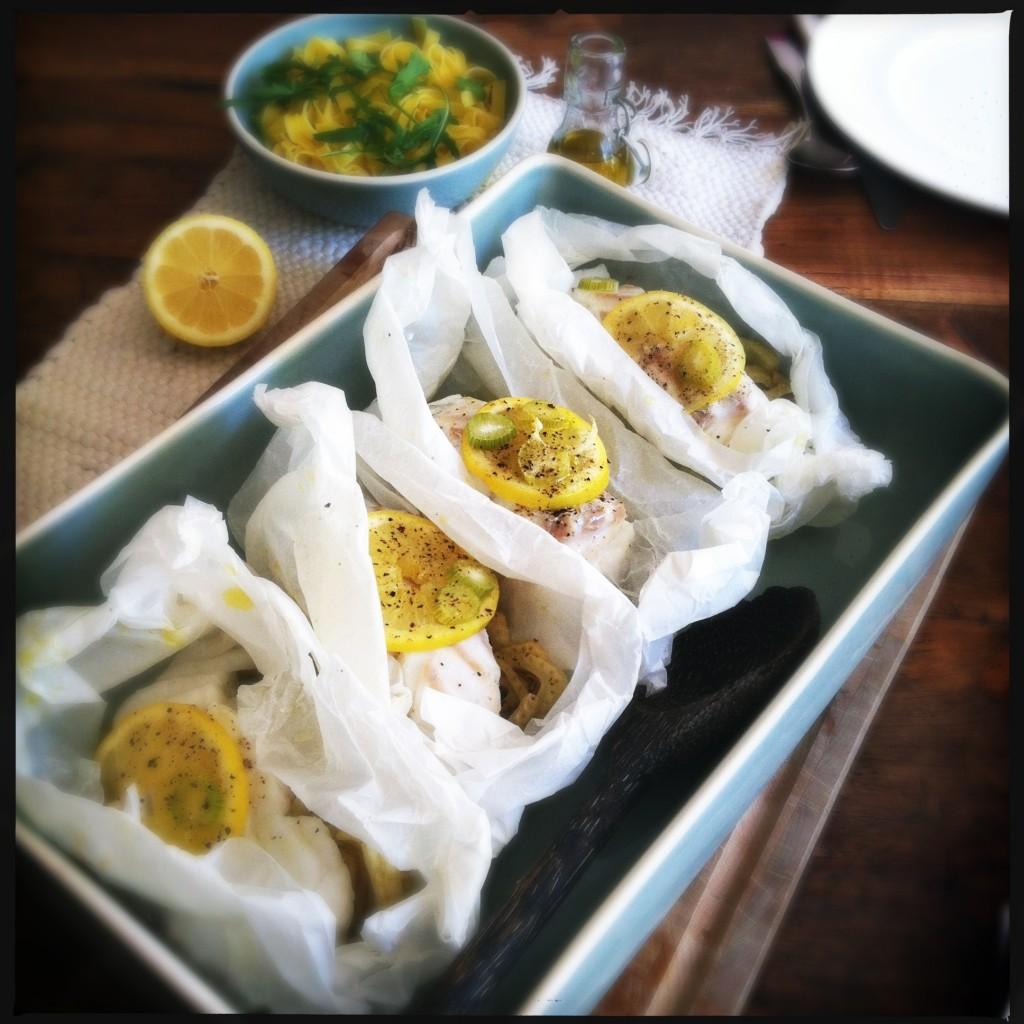 Vis met venkel en citroen uit de oven