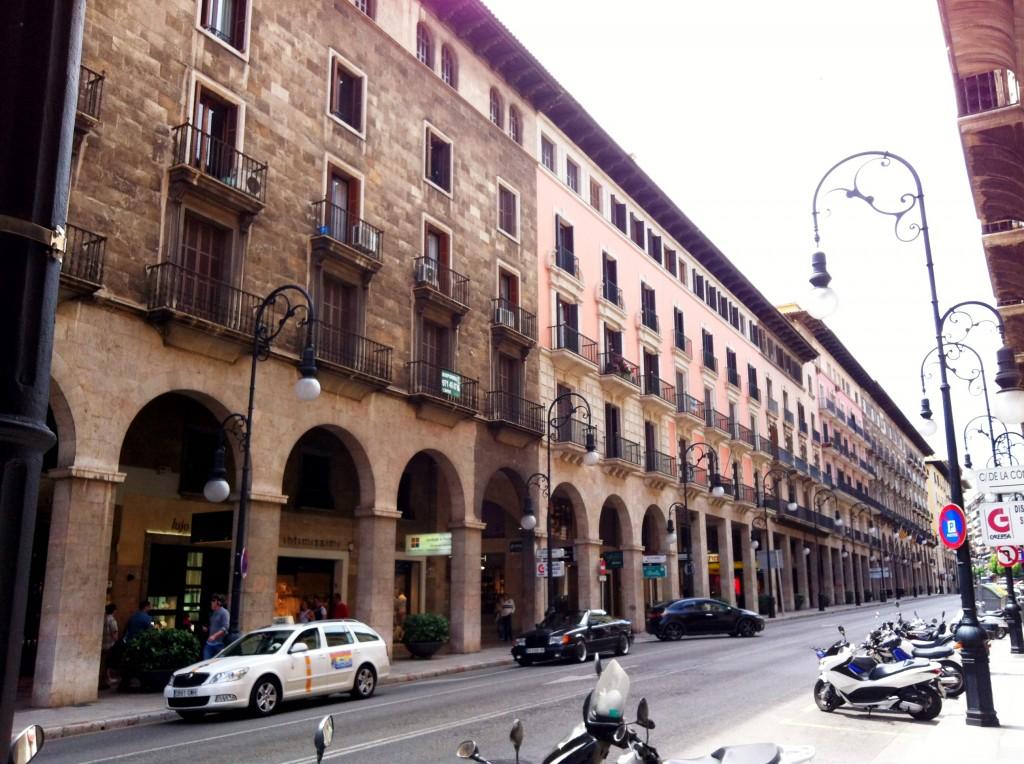 De winkelstraat van Palma