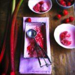 Rabarber & aardbei yoghurt ijs made by ellen