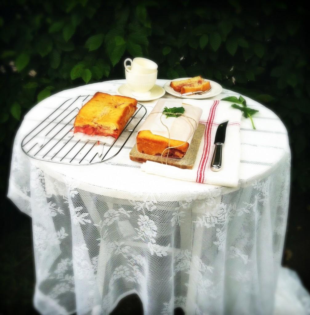 Rabarber cake Made by Ellen