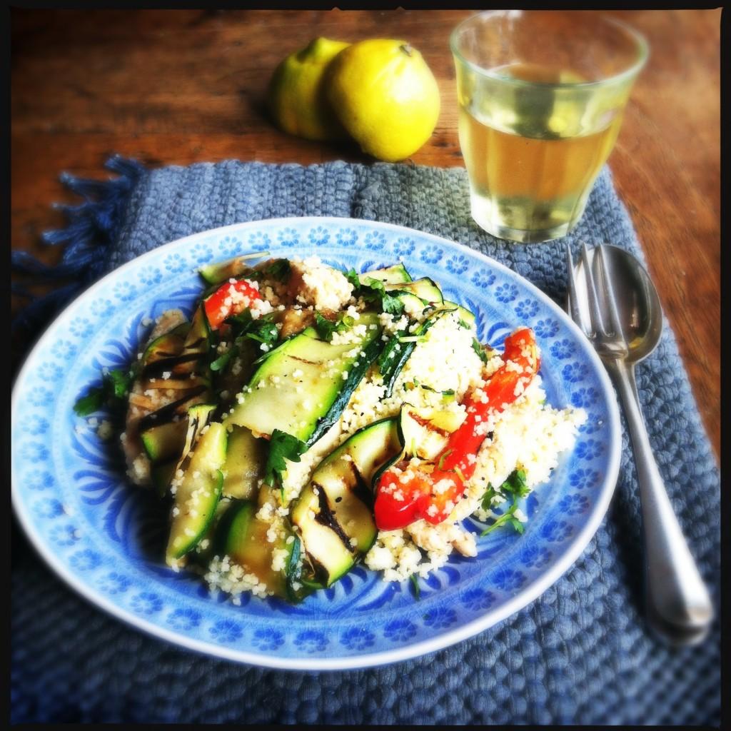 Couscous met gegrilde kip en groenten Made by Ellen