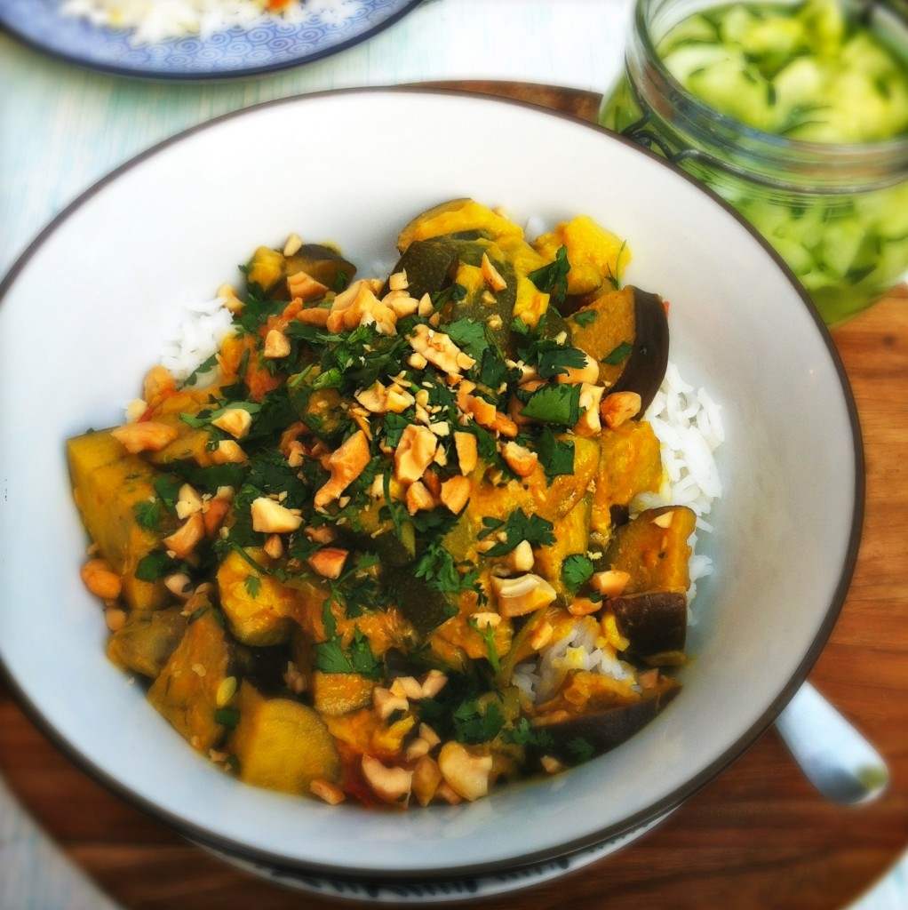 Vegetarische curry met cashewnoten & koriander MAde by Ellen