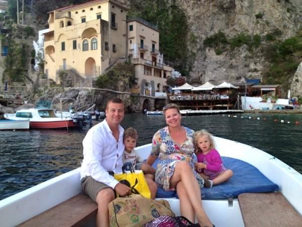 Aangekomen bij het restaurant Amalficoast Made by ELlen