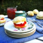 Scones recept met jam & zelfgemaakte clotted cream made by ellen