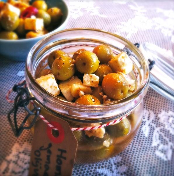 DIY cadeau Gemarineerde olijven met baharat specerij made by ellen