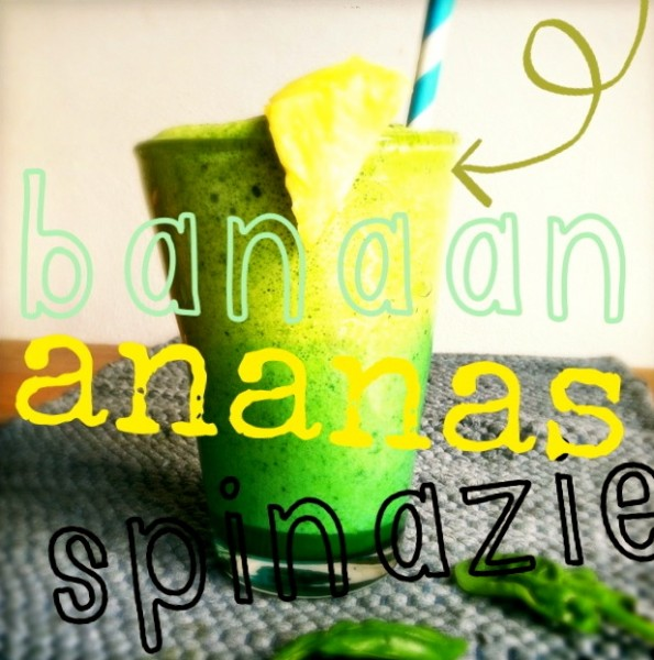 Healthy groene smoothie met ananas Made by Ellen 2
