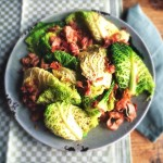 savooiekool salade met pancetta en sinaasappeldressing made by ellen