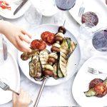 Courgette en aubergine grillen op de BBQ made by ellen