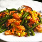 gerookte zalmforel salade met sperziebonen made by ellen