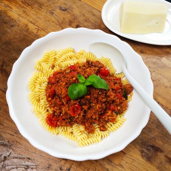 pasta met snelle homemade bolognese saus made by ellen