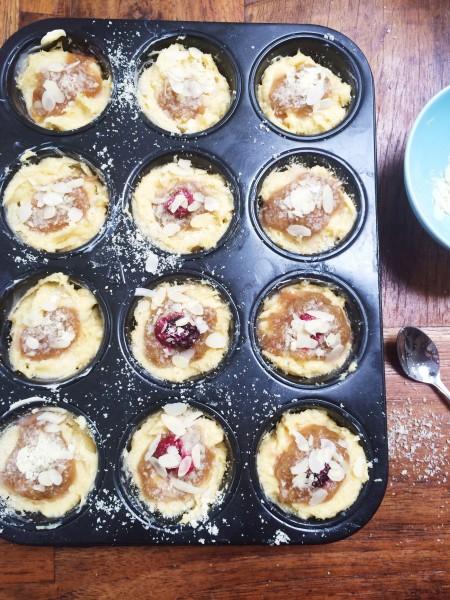 rabarbermuffins made by ellen