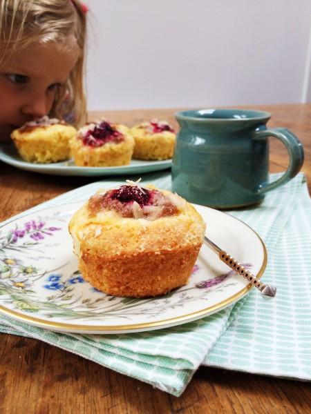 rabarber muffins made by ellen