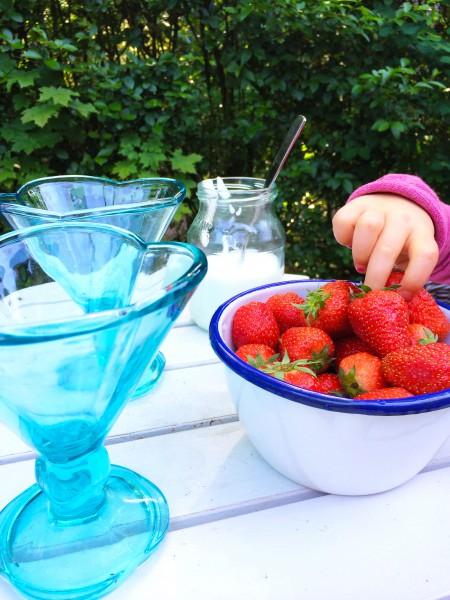 Gezond & fris aardbeien toetje made by ellen