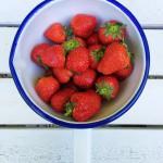 Gezond en fris aardbeien toetje made by ellen