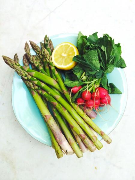 voorjaarssalade met bulgur & groene asperges made by ellen