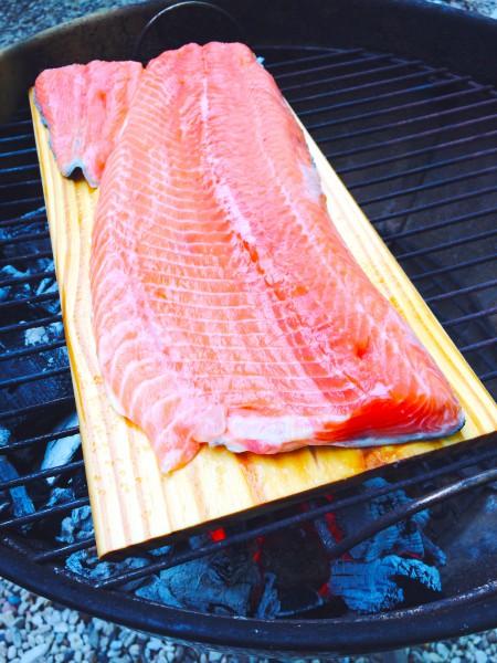 vis van de bbq zalm roken made by ellen