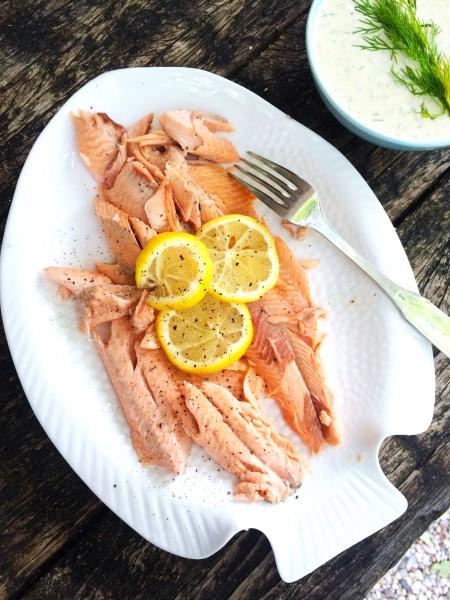 vis van de bbq: zalm roken made by ellen