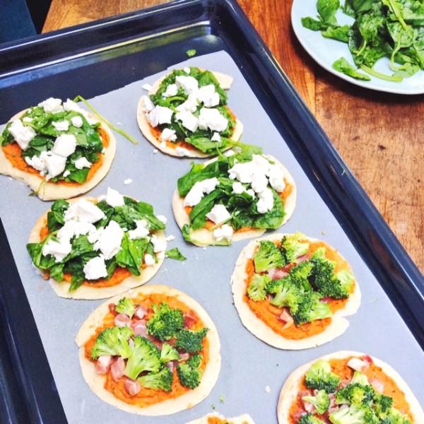 healthy pizza zelf snel maken made by ellen