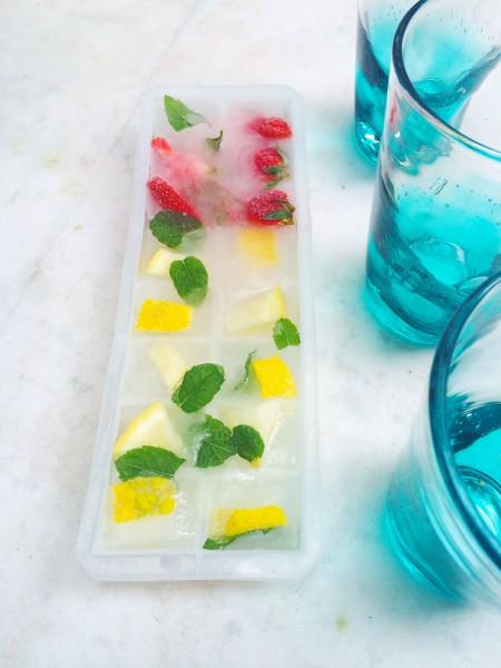 ijsblokjes met een smaakje maken made by ellen