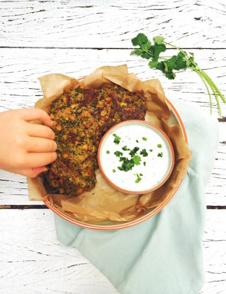 Gezonde pannenkoeken met spinazie & kikkererwten made by ellen