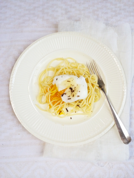 Spaghetti met truffel & gepocheerd ei made by ellen