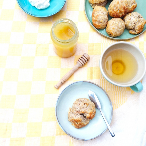 Gezonde scones met banaan & kokos made by ellen