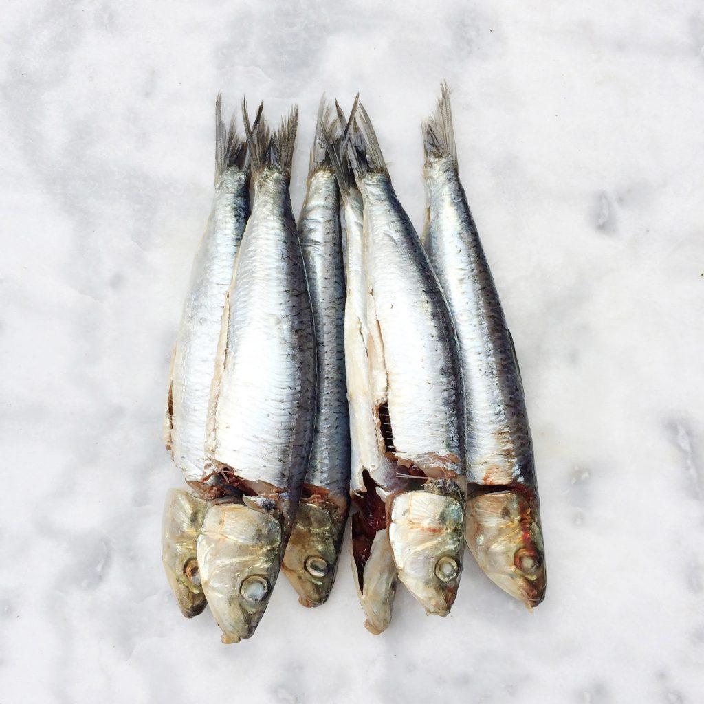 Gegrilde sardines op de BBQ made by ellen