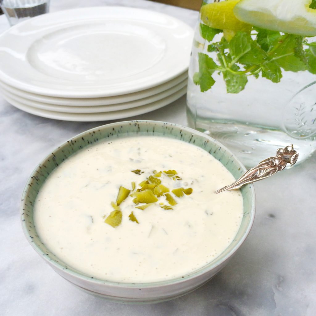 Recept knoflooksaus met yoghurt maken made by ellen