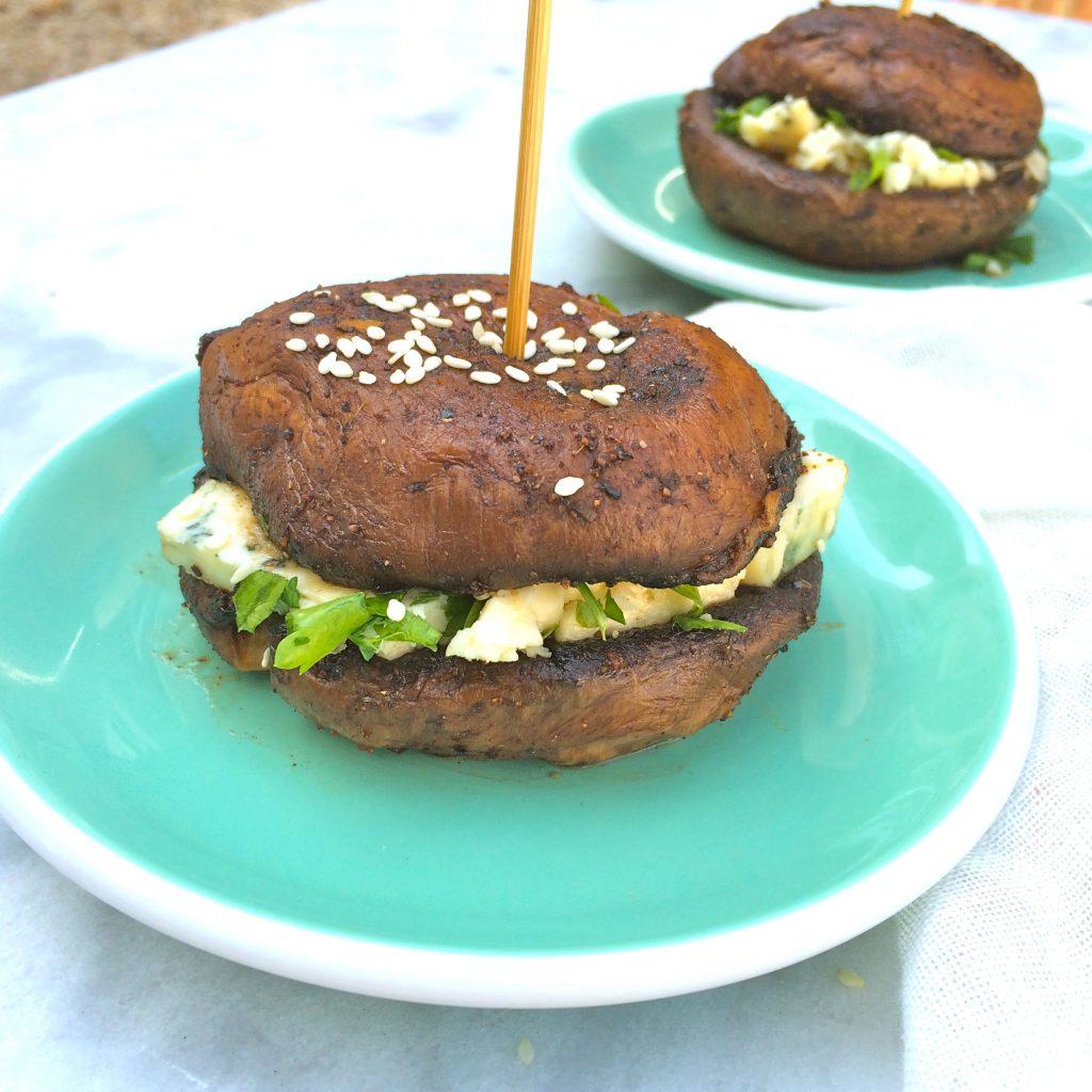 Gevulde portobello burger recept made by ellen