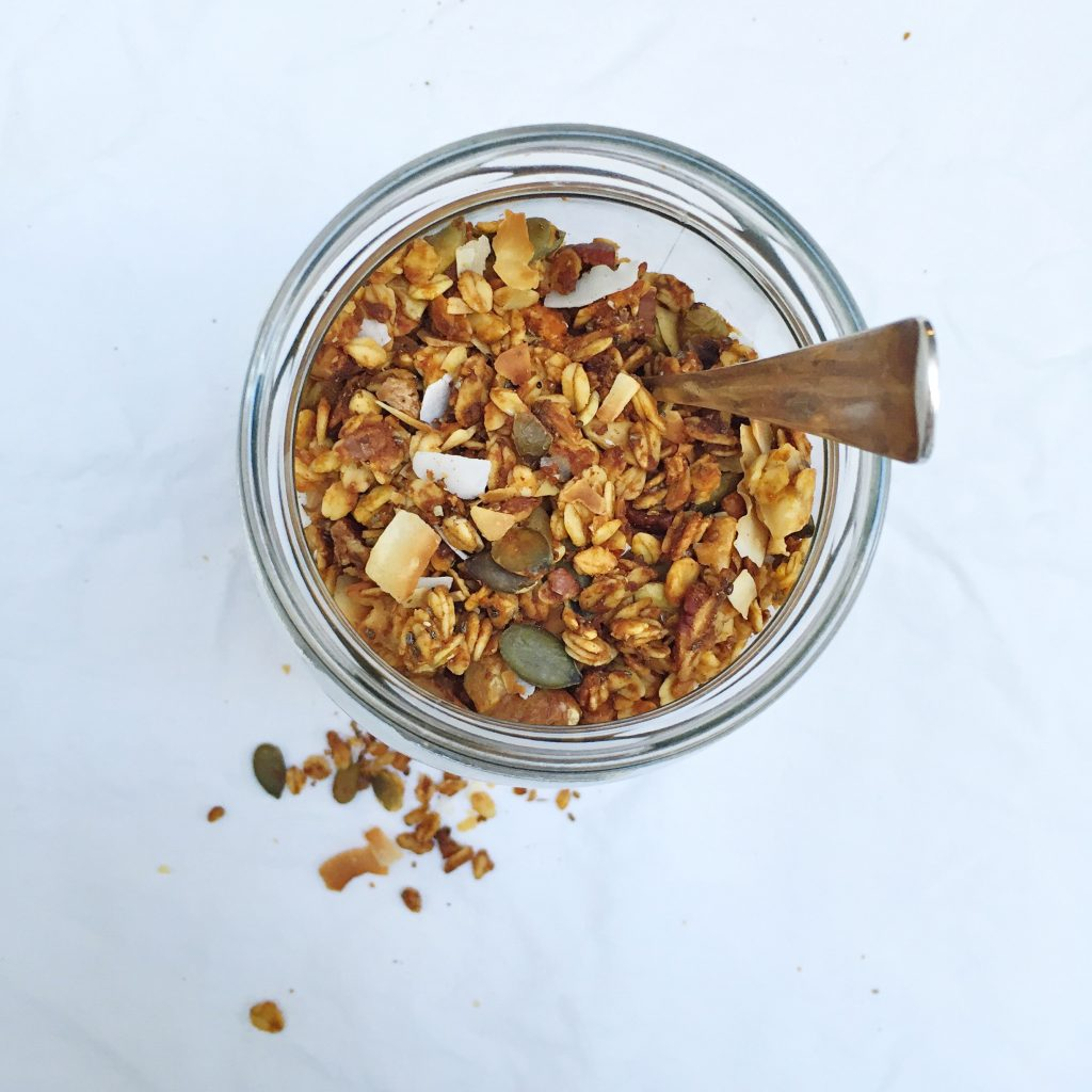 Granola maken - recept met pompoen made by ellen