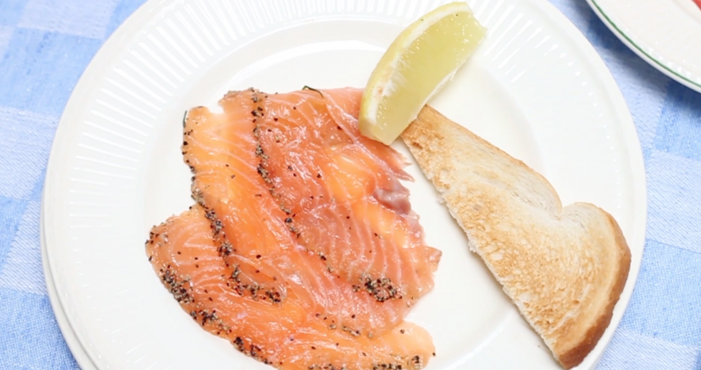 Graved lachs made by ellen video recept