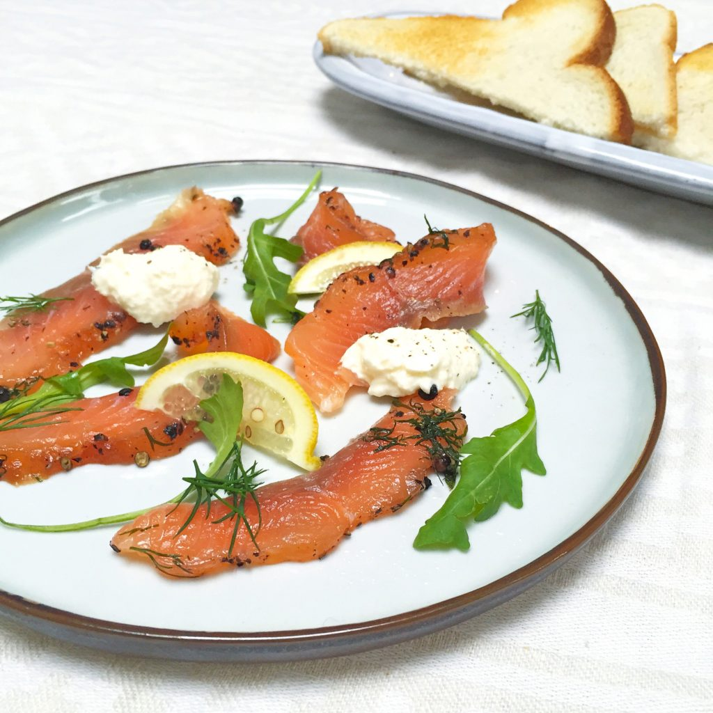 Recept gerookte zalm salade made by ellen
