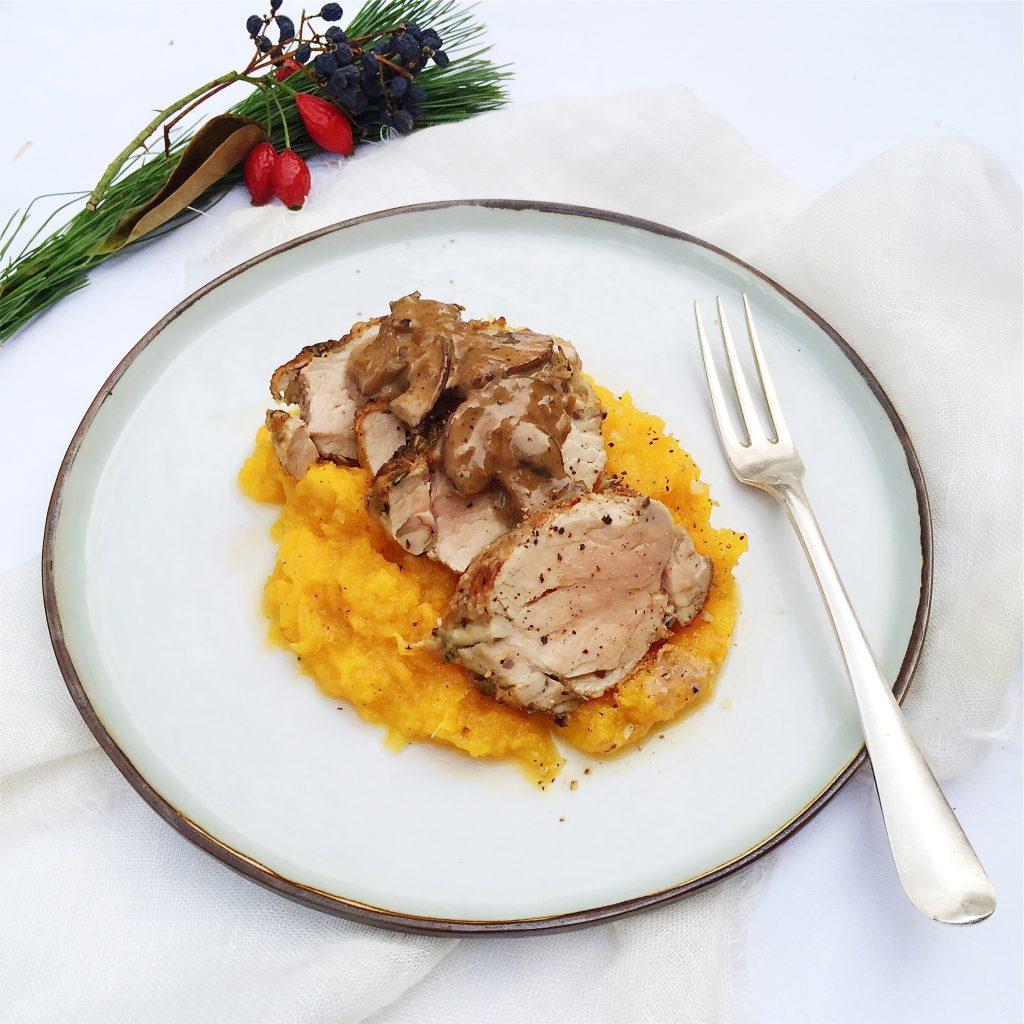 Varkenshaas met champignonsaus made by ellen
