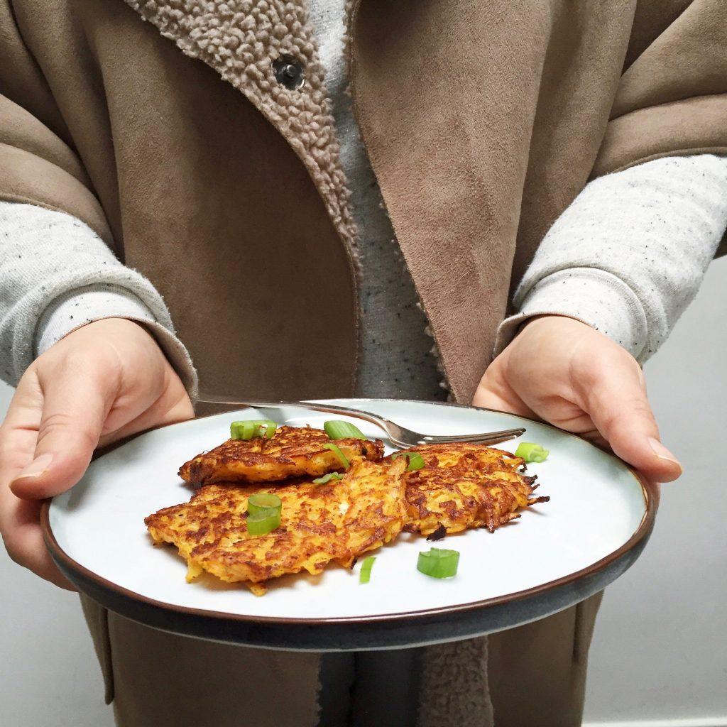 Recept rösti maken met pompoen made by ellen